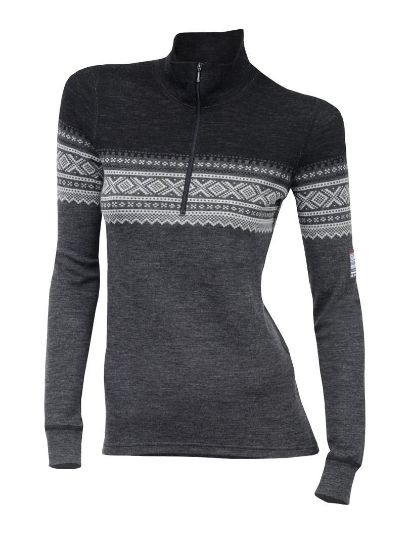 aclima designwool marius mock neck w/zip dame - norefjell