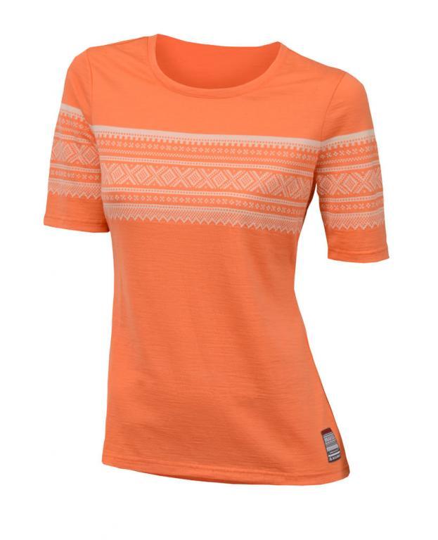 aclima designwool marius t-shirt dame - coral rose