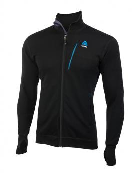 aclima doublewool jacket herre - jet black (sky diver/periscope)
