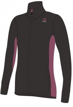 aclima hotwool jacket dame - jet black/damson