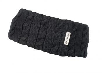 aclima knitted headband - jet black