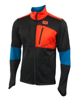 aclima lars monsen anàrjohka jacket herre - jet black/poinciana/blue sapphire - 086