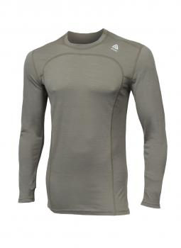 aclima lightwool crew neck herre - ranger green