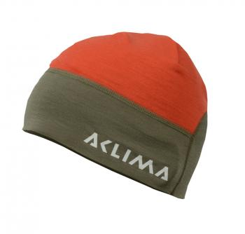aclima lightwool hunting safety beanie - ranger green/poinciana