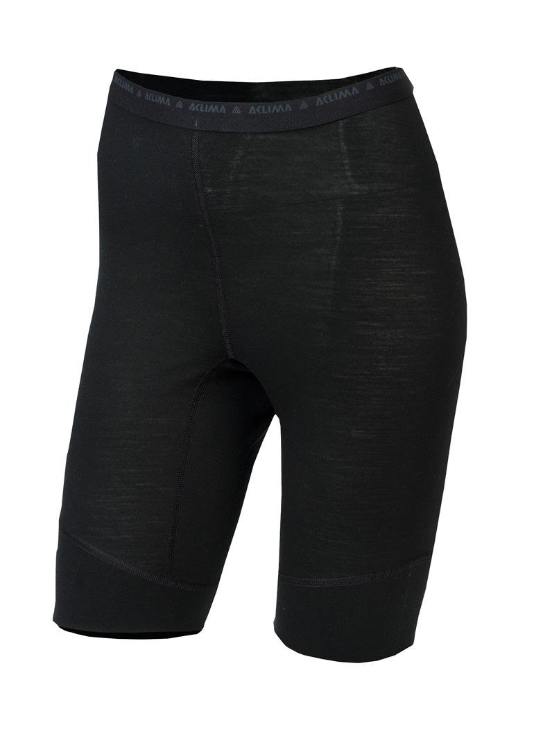 aclima lightwool shorts long dame - jet black
