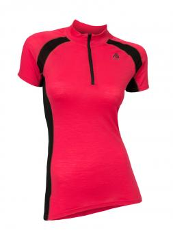 aclima lightwool speed shirt dame - raspberry/jet black