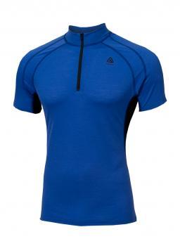aclima lightwool speed shirt herre - dazzling blue/jet black