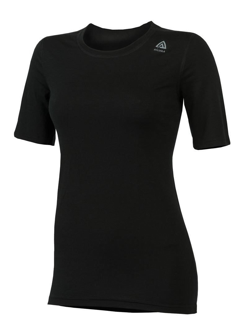 aclima lightwool t-shirt classic dame - jet black