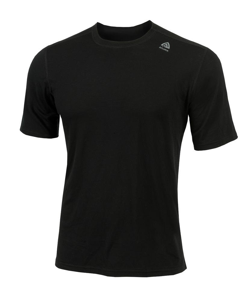 aclima lightwool t-shirt classic herre - jet black