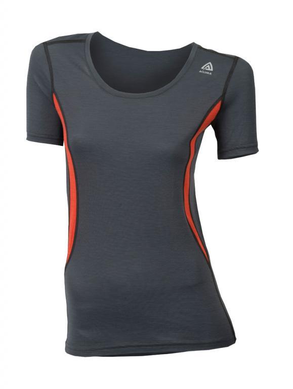 aclima lightwool t-shirt round neck dame - iron gate/poinciana
