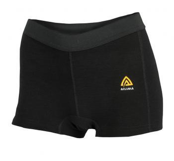 aclima warmwool boxer shorts dame - jet black