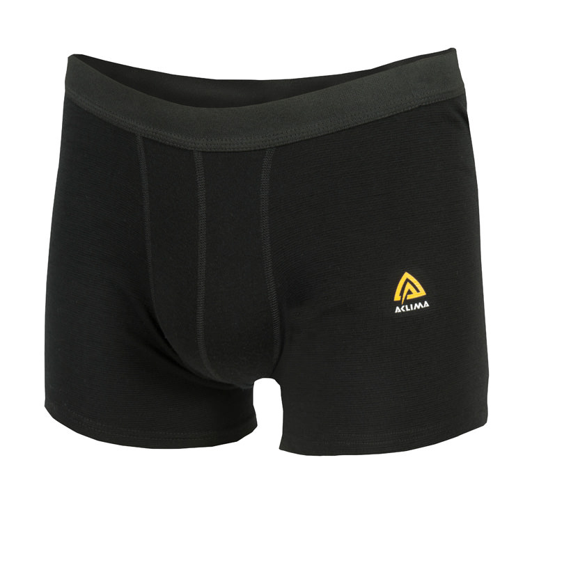 aclima warmwool boxer shorts herre - jet black