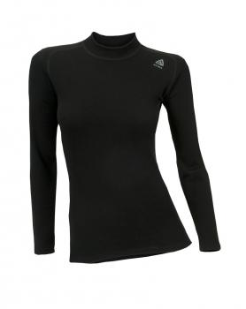 aclima warmwool crew neck dame - jet black