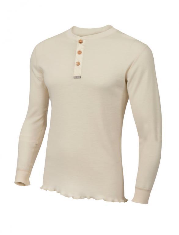 aclima warmwool granddad shirt herre - nature