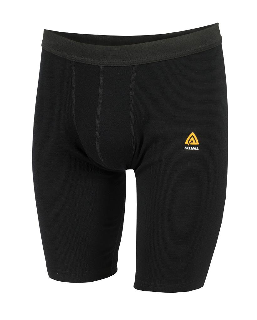 aclima warmwool long shorts herre - jet black