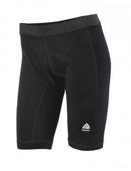aclima warmwool long shorts w/windstop dame - jet black