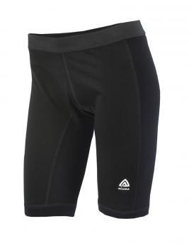 aclima warmwool long shorts w/windstop dame - jet black