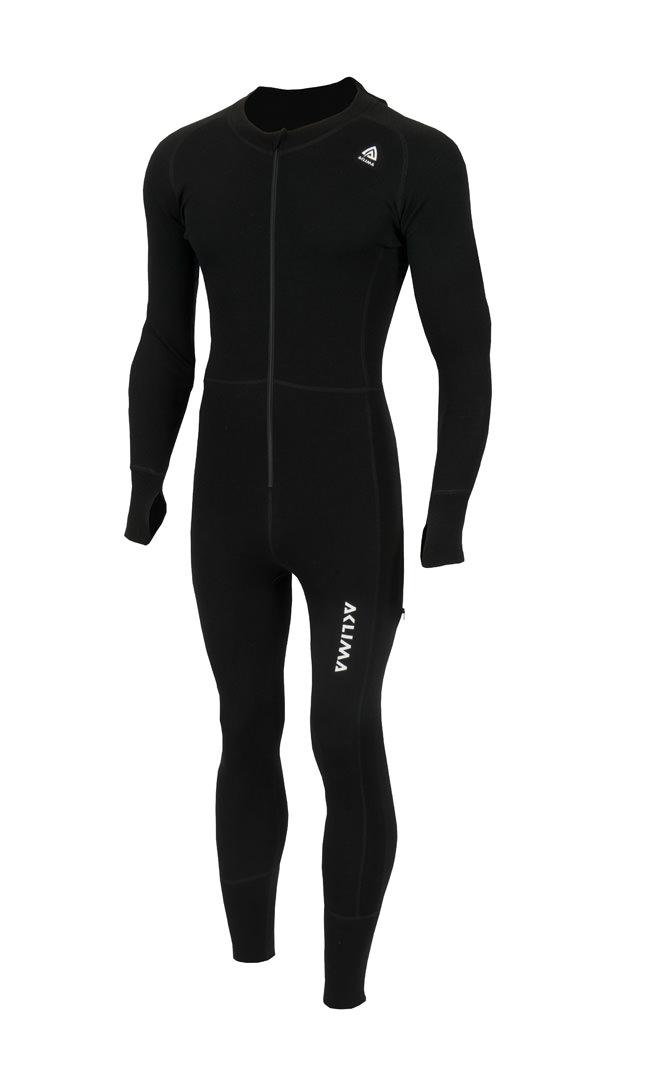 aclima warmwool overall herre - jet black