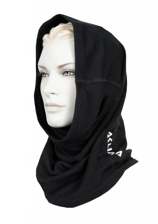 aclima warmwool round scarf - jet black