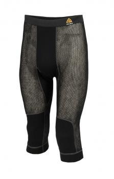 aclima woolnet 3/4 longs herre - jet black