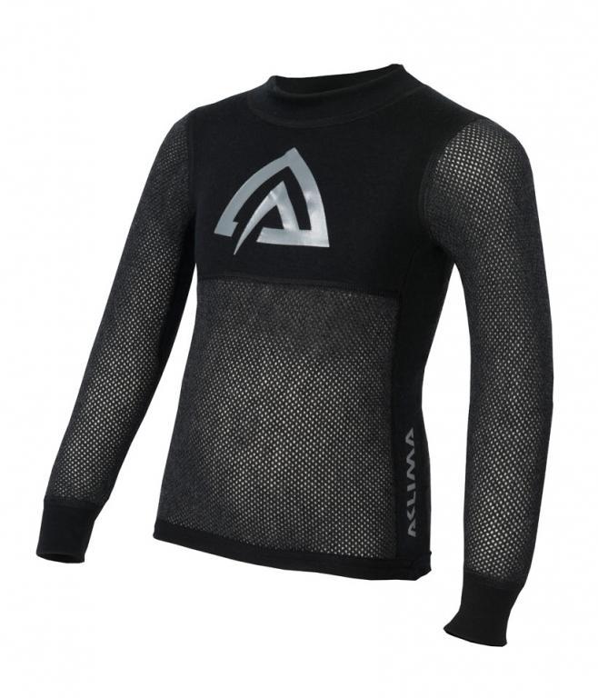 aclima woolnet mini crew neck junior - jet black