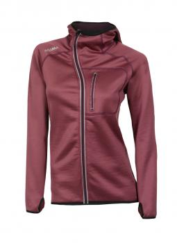 aclima woolshell jacket w/hood dame - damson