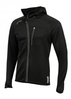 aclima woolshell jacket w/hood herre - jet black