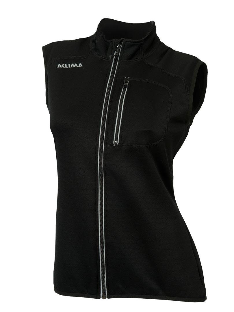 aclima woolshell vest dame - jet black