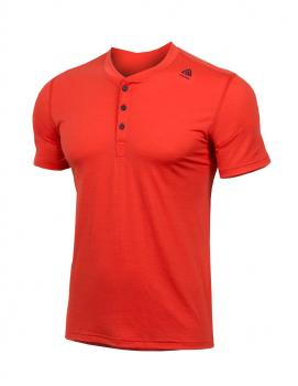 aclima lightwool henley shirt herre - poinciana