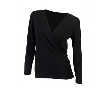 aclima urbanwool wrap cardigan dame - jet black