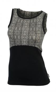 aclima urbanwool top dame - jet black/enchanted forest