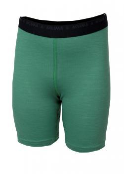aclima lightwool shorts long junior - deep grass green