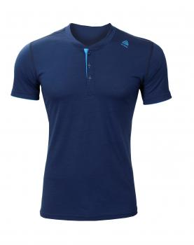aclima lightwool henley herre - insignia blue/blithe