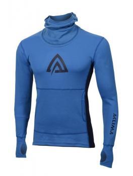aclima warmwool hood sweater herre - brilliant blue/peacoat
