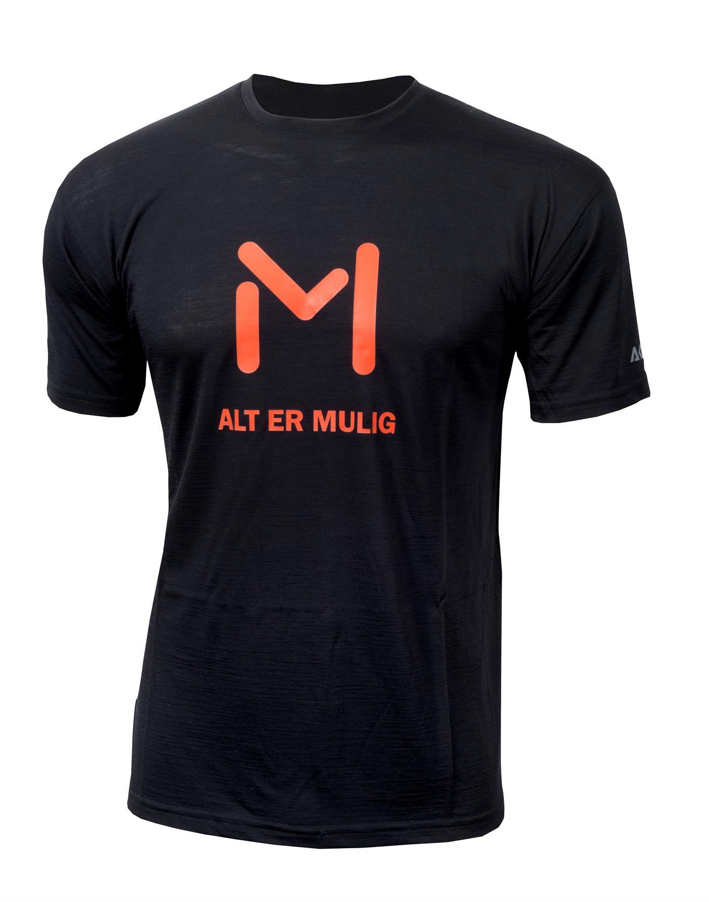 aclima lars monsen anárjohka lightwool t-shirt unisex - jet black