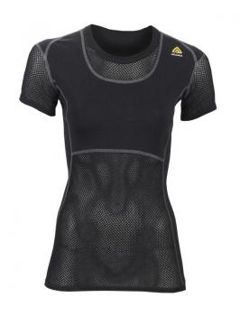 aclima woolnet t-shirt dame - jet black