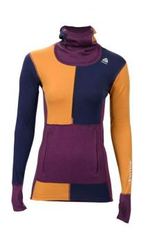 aclima warmwool w_zip dame grape wine
