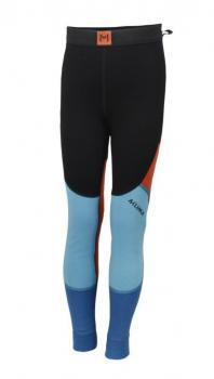 aclima lars monsen anárjohka warmwool longs junior - jet black/river blue/poinciana/blue sapphire