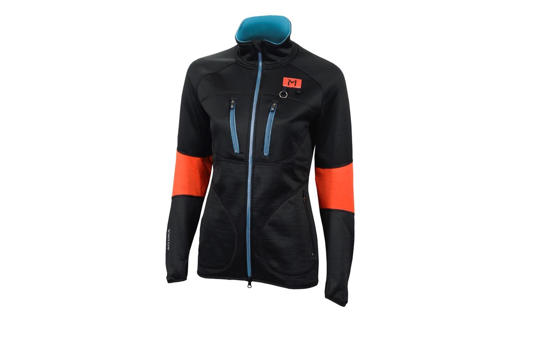 aclima lars monsen anárjohka woolshell jacket dame - jet black/poinciana/river blue - 090