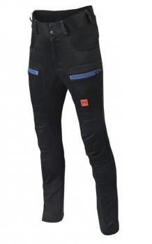 aclima lars monsen anárjohka woolshell pants dame - jet black/poinciana/river blue - 090