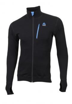aclima doublewool jacket herre - jet black (tornado/brilliant blue)
