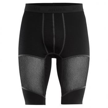 aclima woolnet shorts long herre - jet black