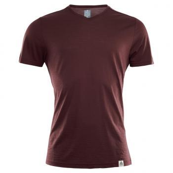 aclima lightwool t-shirt herre - bitter chocolate