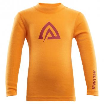 aclima warmwool crew neck barn - cadmium yellow/tapestry