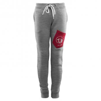 aclima fleecewool joggers junior - grey mélange/chili pepper