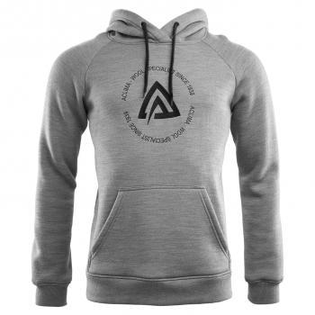 aclima fleecewool hoodie herre - grey melange