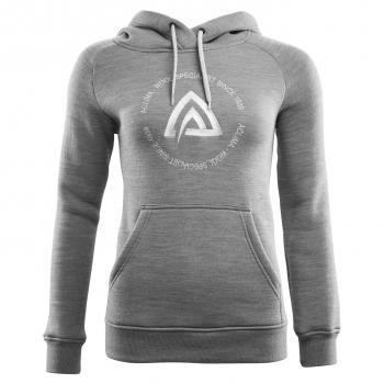aclima fleecewool hoodie dame - grey melange