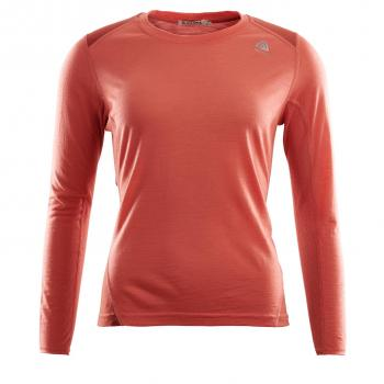 aclima lightwool sports shirt dame - burnt sienna/red ochre