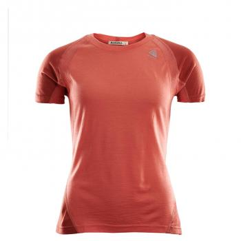 aclima lightwool sports t-shirt dame - burnt sienna/red ochre