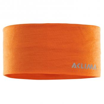 aclima lightwool headband - orange popsicle